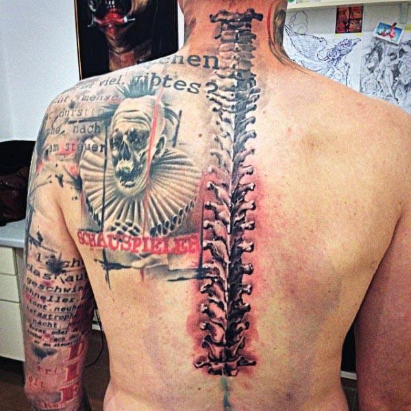 bone tattoo design men
