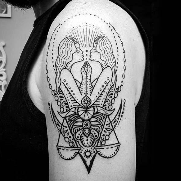 Zodiac Sign Tattoo Design Gemini
