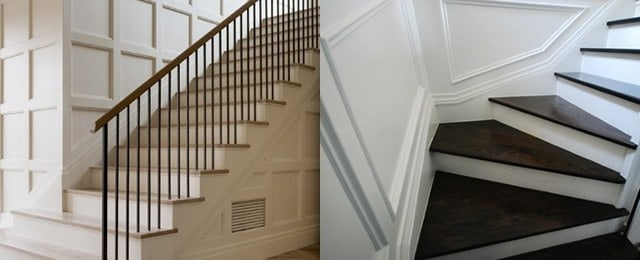 Top 60 Best Stair Trim Ideas Staircase Molding Designs | Chair Rail On Stairs | Double | Traditional | Stained Wood | Remodeling | Wainscoting