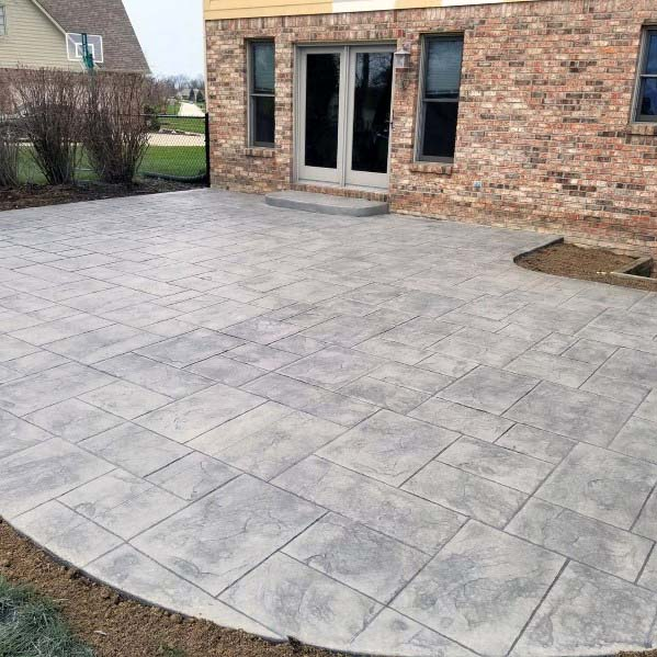 decorative cement patio