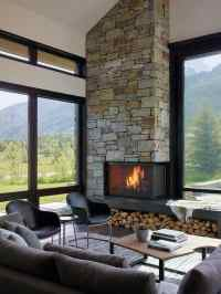 Top 70 Best Corner Fireplace Designs - Angled Interior Ideas