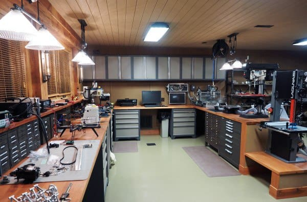 Top 60 Best Garage Workshop Ideas  Manly Working Spaces