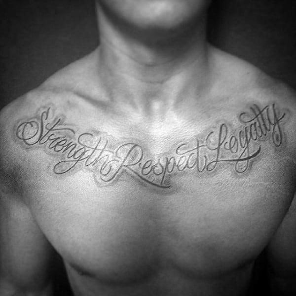 20 Loyalty Collar Bone Tattoos Ideas And Designs