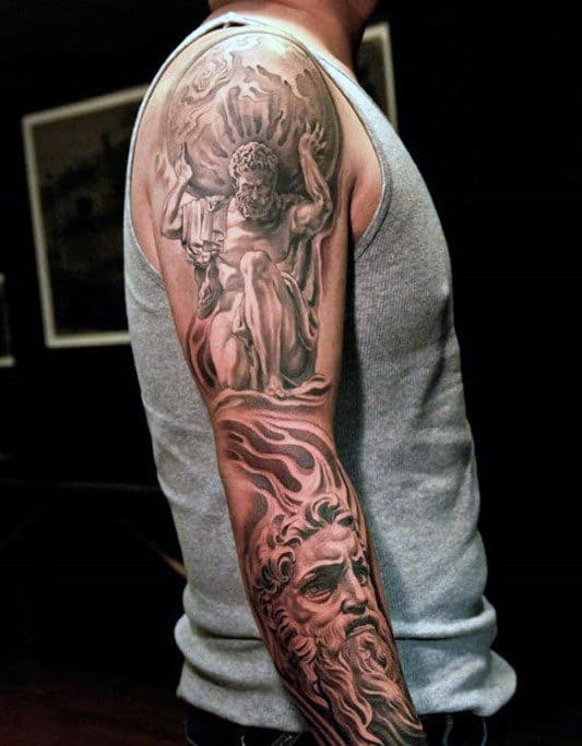 60 Greek Tattoos For Men Mythology And Ancient Gods