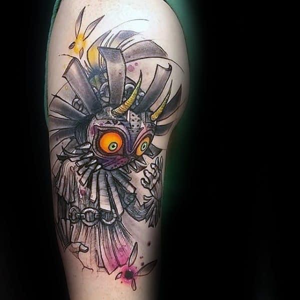 50 Majoras Mask Tattoo Designs For Men The Legend Of Zelda Ideas