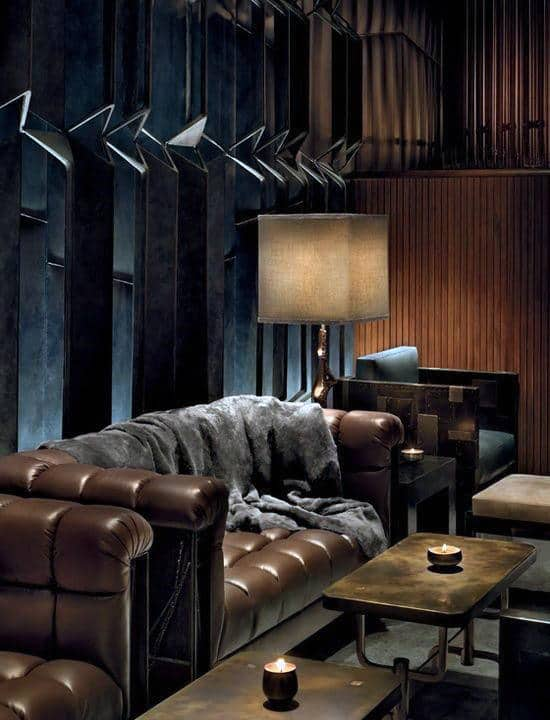 living room designs with dark brown couch traditional furniture sets 75 man cave ideas for men - manly interior