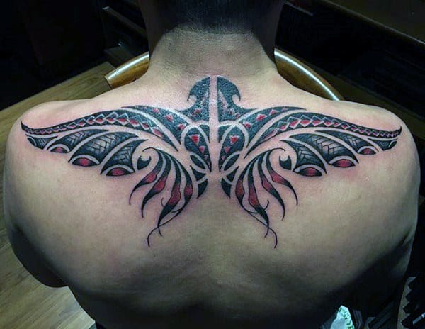 Simple Upper Back Tattoos For Men