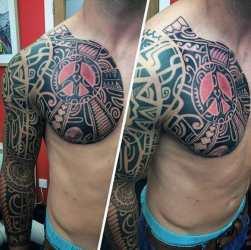 tribal tattoos tattoo sleeve forearm designs arm cool mens guys colored gentleman