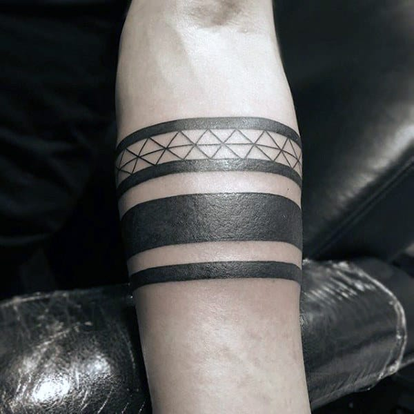 20 Black Band Forearm Tattoos Ideas And Designs