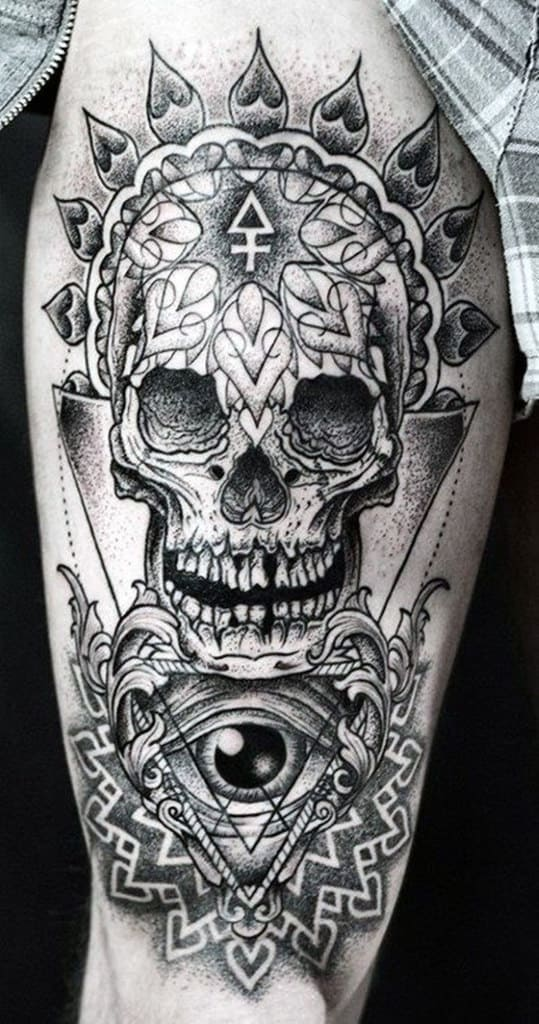skull tattoos men