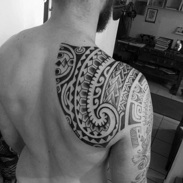 Polynesian Tattoo Shoulder Design