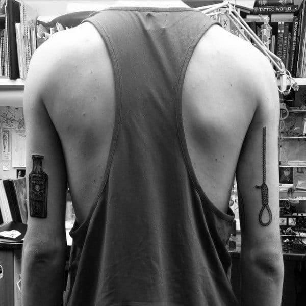 50 Noose Tattoo Designs For Men Hangman S Knot Ink Ideas