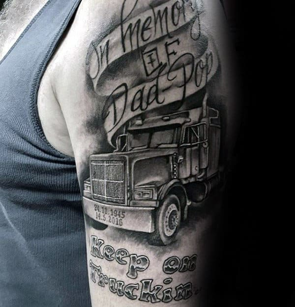 20 Remembrance Trucker Tattoos For Men Ideas And Designs
