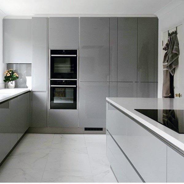 Modern Grey Kitchen Designs