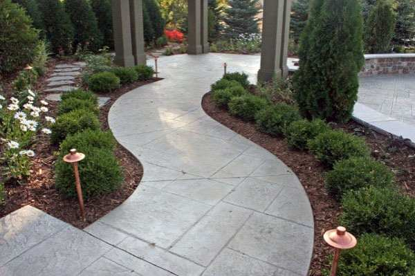 concrete walkway ideas