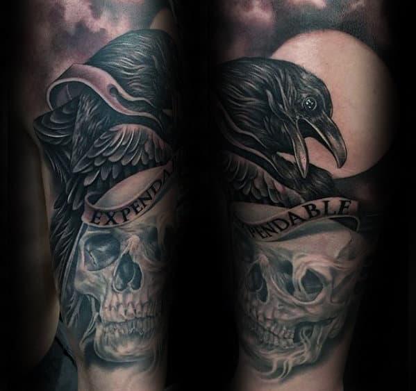 Skull And Crow Tattoo Designs Www Imagenesmi Com