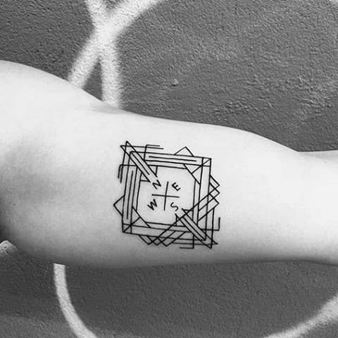 40 Geometric Compass Tattoo Designs For Men  Cool Geometry Ideas