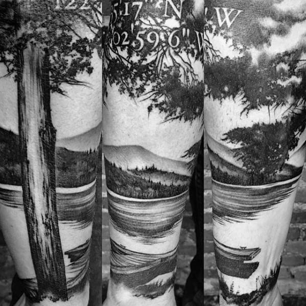 40 Lake Tattoo Designs For Men  Nature Ink Ideas