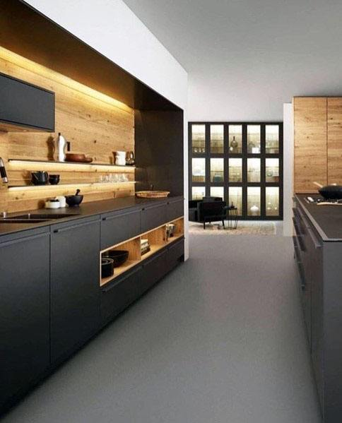 modern kitchen backsplash painting cabinets home depot top 60 best wood ideas wooden wall designs unique