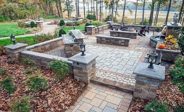 back yard patio design idea Top 60 Best Outdoor Patio Ideas - Backyard Lounge Designs