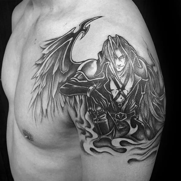 Video Game Tattoos Black And White