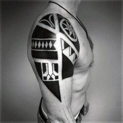 arm tattoos tribal upper cool mens line tweet quality