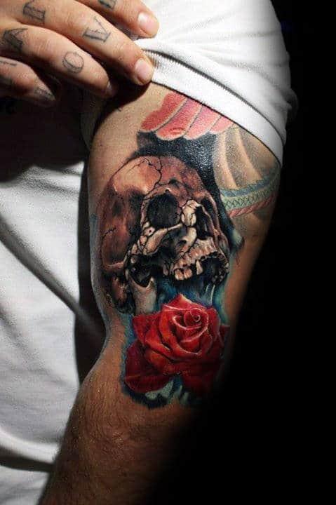 20 Skull Tattoos Men Upper Arm Ideas And Designs