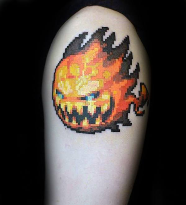20 Video Game Characters Pixelaed Tattoos Ideas And Designs