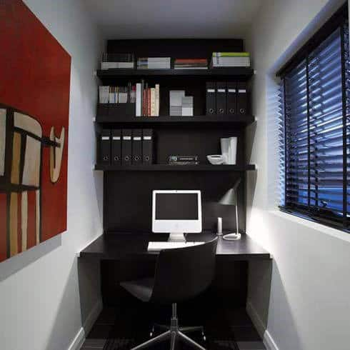 small home office interior design ideas 75 Small Home Office Ideas For Men - Masculine Interior Designs