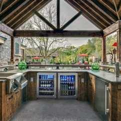 Outdoor Kitchen Bar Corner Shelves Top 60 Best Ideas Chef Inspired Backyard Designs Wet