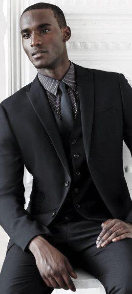 50 black suit styles