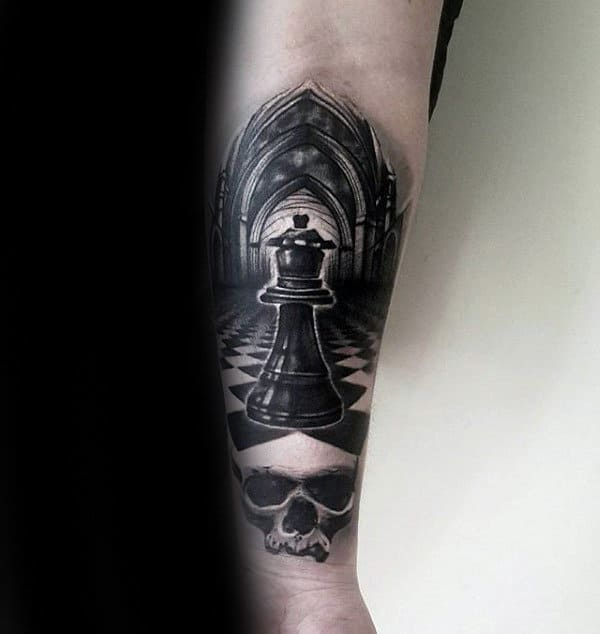 King Chess Piece Tattoos