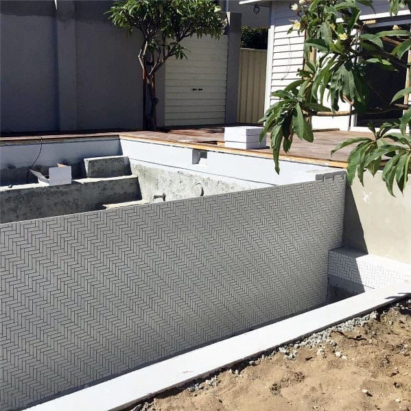 Top 60 Best Home Swimming Pool Tile Ideas