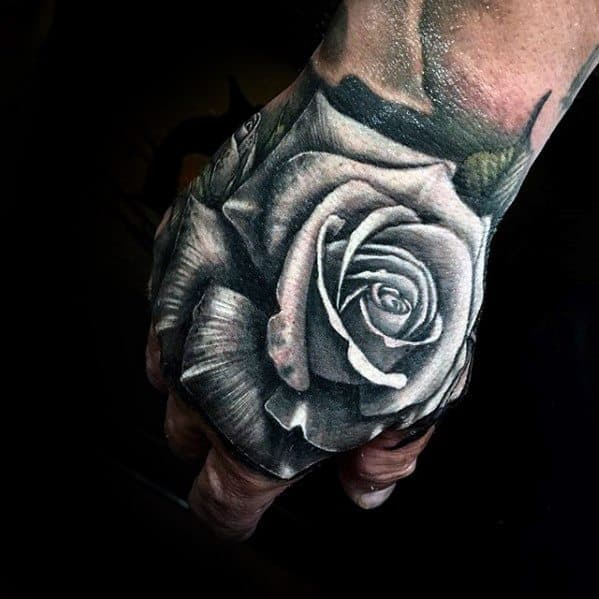 20 Floral Hand Tattoos Men Ideas And Designs