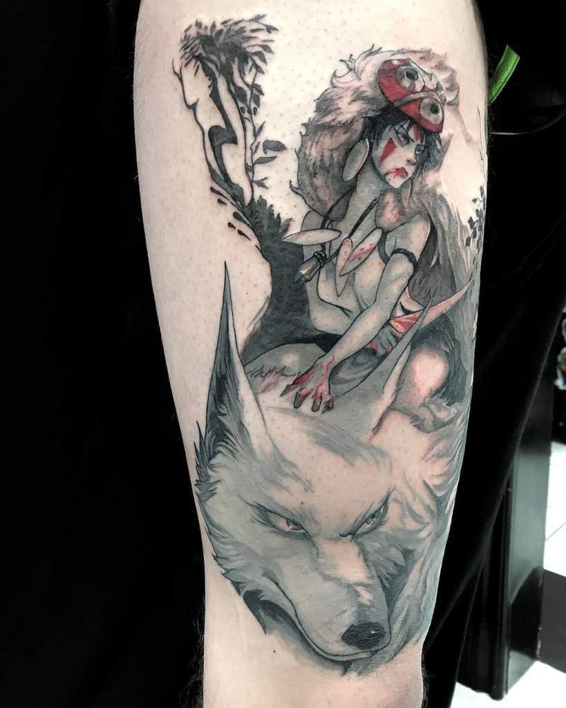 Princess Mononoke Tattoos : princess, mononoke, tattoos, Princess, Mononoke, Tattoo, Ideas, [2021, Inspiration, Guide]