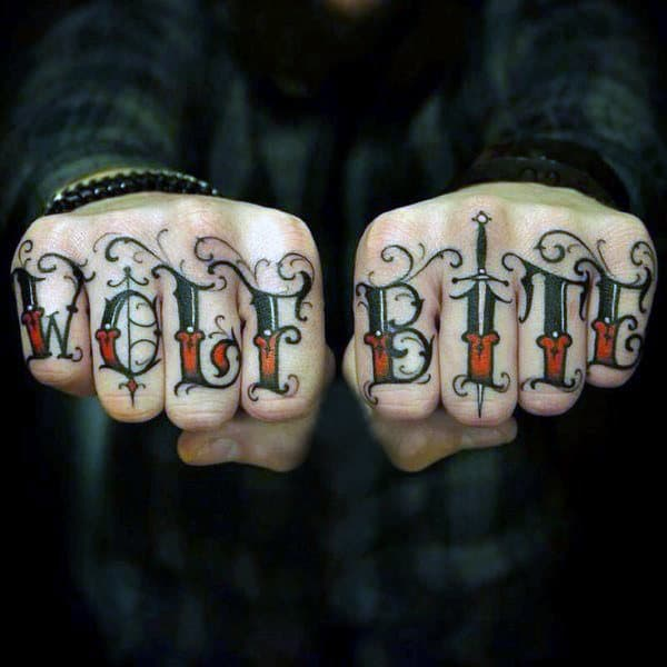 20 Knuckle Tattoos For Men Lettering Ideas And Designs