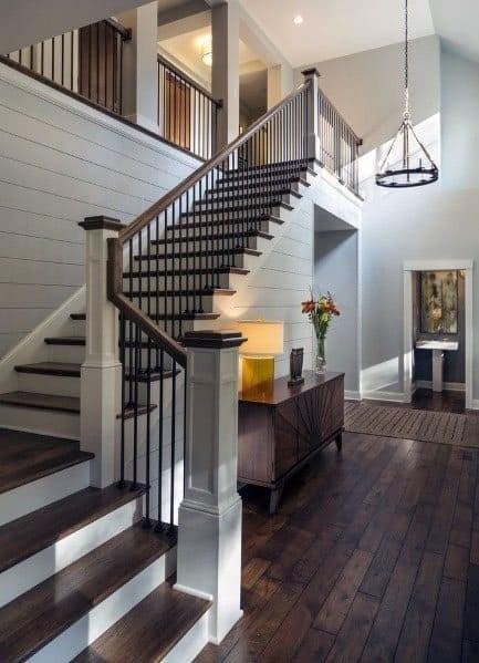 Top 70 Best Stair Railing Ideas Indoor Staircase Designs | Modern Wood Stair Railing | Creative Outdoor Stair | Traditional | Indoor | Balustrade | Cherry Wood