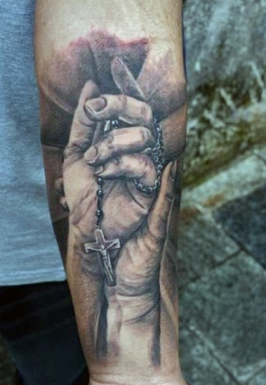 Praying Hands With Cross Tattoos : praying, hands, cross, tattoos, Praying, Hands, Tattoo, Ideas, [2021, Inspiration, Guide]