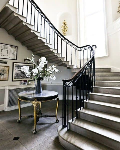 Top 70 Best Stair Railing Ideas Indoor Staircase Designs | Outdoor Iron Staircase Designs | Round | Home Stair Design | Backyard | Spiral Staircase | Eye Catching