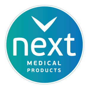 Logo for NEXT Medical Products Company in Branchburg, NJ