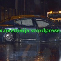 Photo Gallery: Wizkid crashes Porsche Panamera S Car as multiply accidents occured on Lekki Epe Express Way