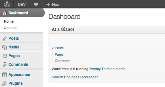 WordPress Classic Admin Interface