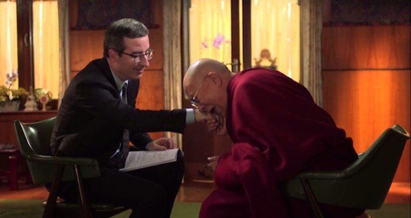 Image result for John Oliver Dalai lama