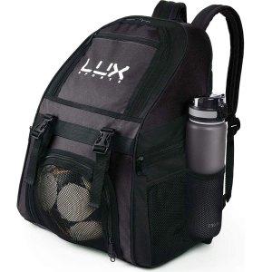 LUX Football Backpack Black