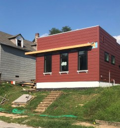 habitat for humanity home under construction at 3436 indiana photo jessica deem [ 2500 x 1492 Pixel ]