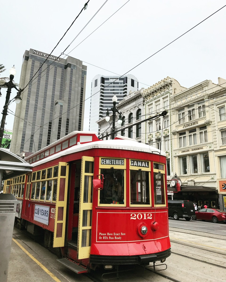 New Orleans streetcar on Canal Street
