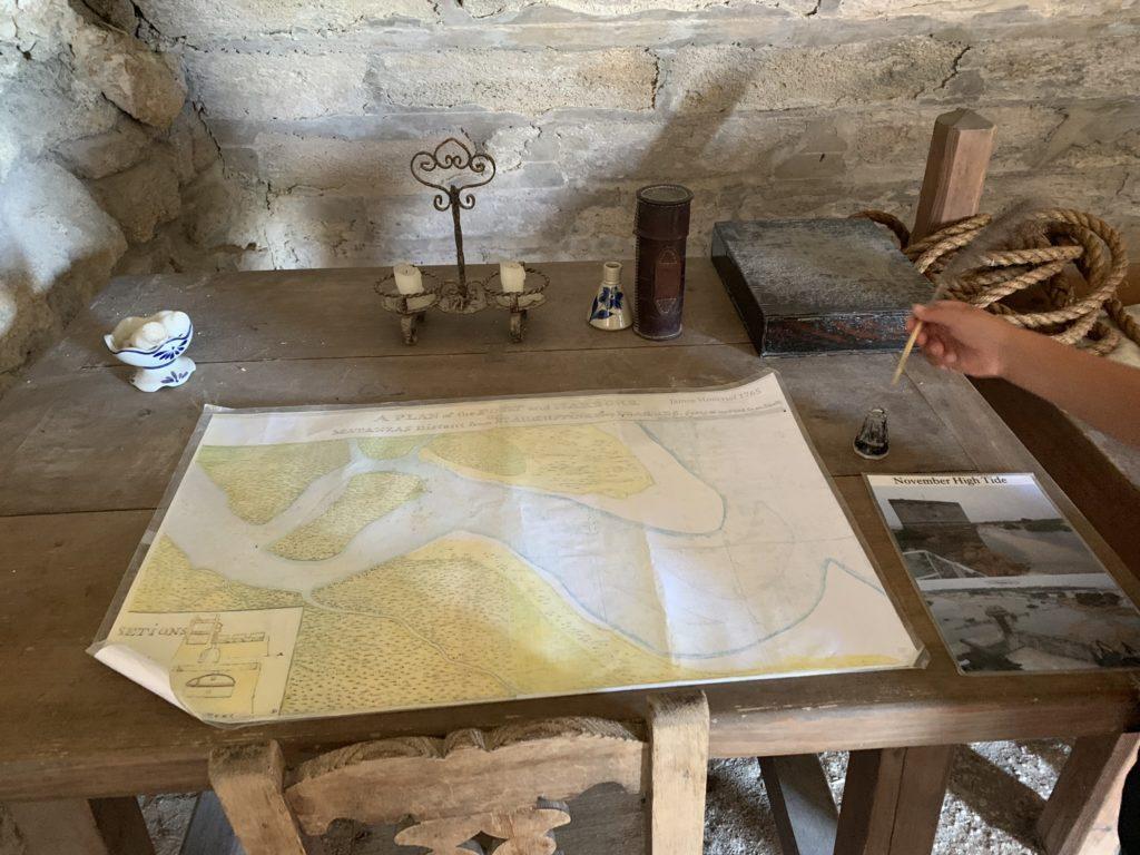 inside Fort Matanzas