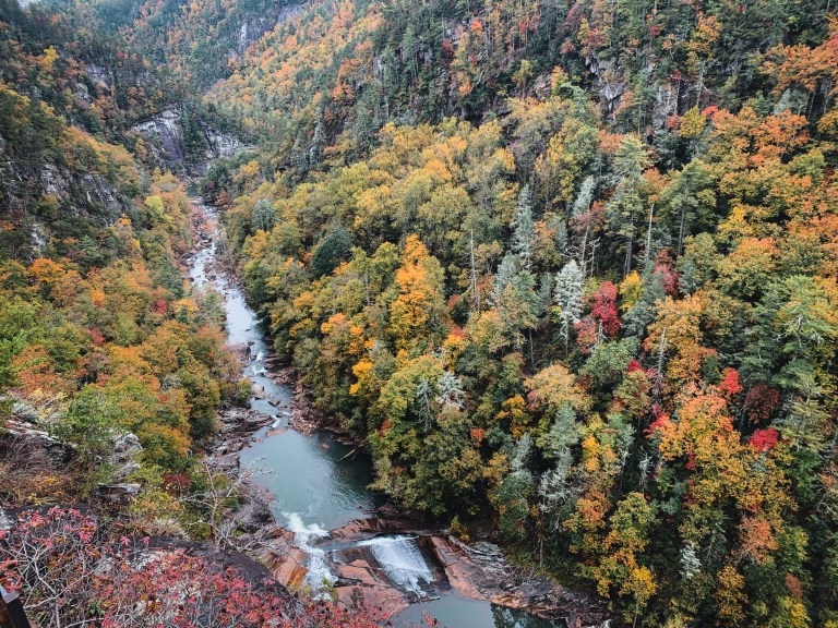 aerial view of Tallulah Falls State Park