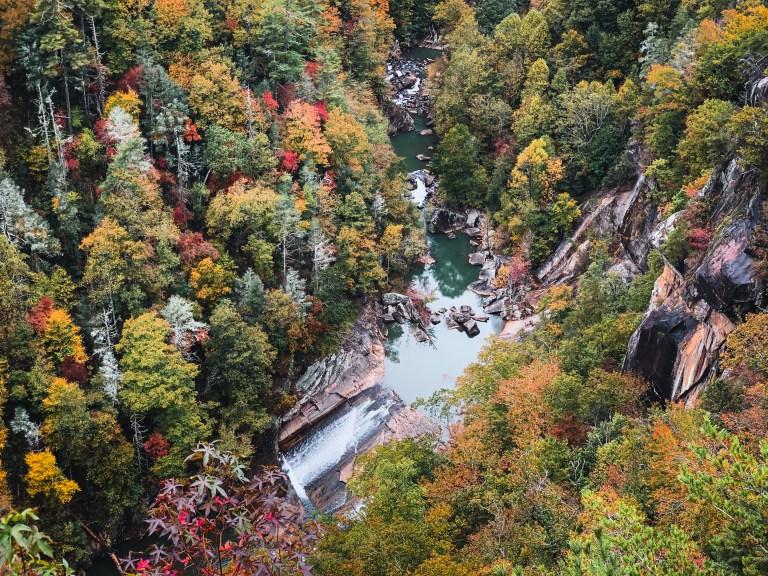 hiking at Tallulah Gorge Falls