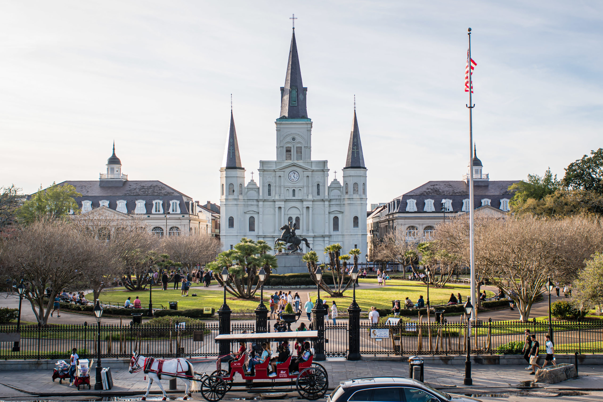 st louis cathedral in jackson square new orleans
